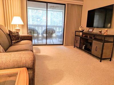 Living room With Smart TV- Private Balcony