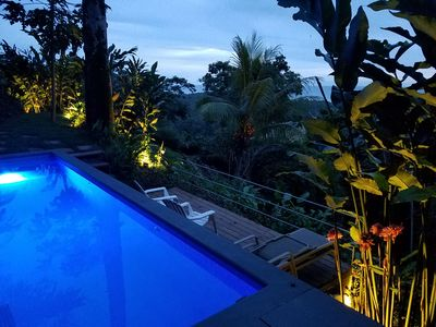 Photo for OCEAN VIEW VILLA  Private Pool, Tanning Deck,  Direct Sunsets!
