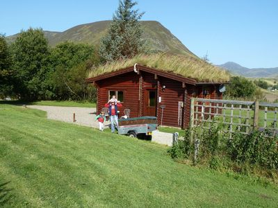Photo for Log Cabin with Hot Tub for 2 | In the Cairngorm National Park | Accepts Dogs