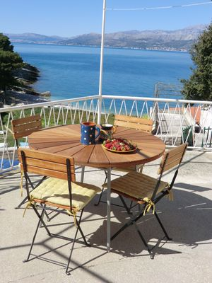 Photo for Brac island - Postira - 50m from the sea, house with sea view terrace