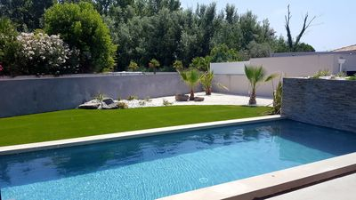 Photo for Newly built villa with private swimming pool 400m from the sea