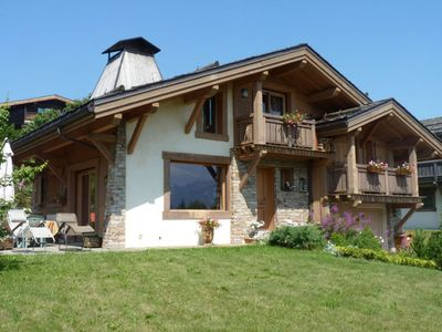 Photo for Savoyard chalet with views of Mont Blanc