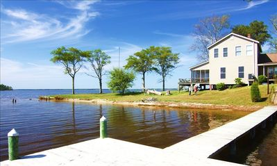 Garrison Point Has over one mile of waterfront.