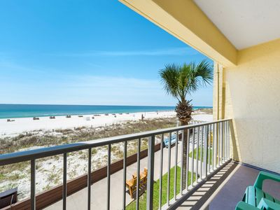 Photo for New Listing! Gorgeous, updated oceanfront studio! Gulf-front pool, free WiFi!