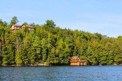 View of the Cottage and Boathouse from the Lake
