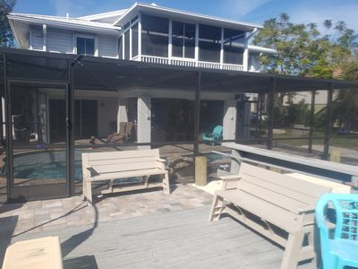 SALT CANAL BOAT RAMP DOCK 12K BOATLIFT CAGED HEATED POOL & DOUBLE UNIT DISCOUNTS