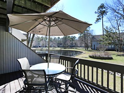 Photo for 3404W: Lake views from this 2BR Sea Colony West condo! Beach, pools, tennis ...