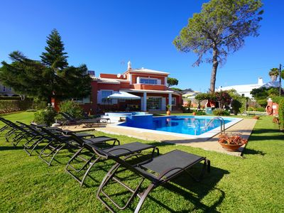 Photo for VILLA LUZ, with 7 bedrooms, 7 WC, swimming pool, beautiful garden, near Golf and beaches