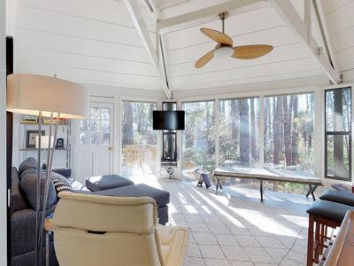 Photo for Dog-friendly condo with furnished patio near the beach - lots of windows!