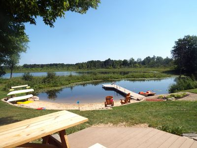 Photo for Mann Lake Cottage, Year Round, Pet friendly, sleeps 14, private relaxing, groups