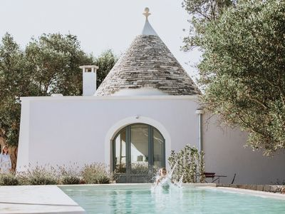 Photo for 180 degree sea view Trullo renovated with a modern twist