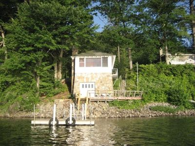 Photo for Charming Schroon Lake Boathouse Rental