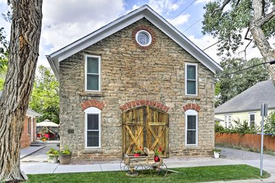 Originally built in 1883, the condo used to be a stone stable.