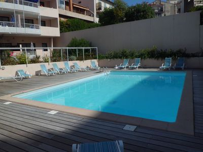 Photo for T2 apartment 50m from the beach, renovated Suquet area with pool