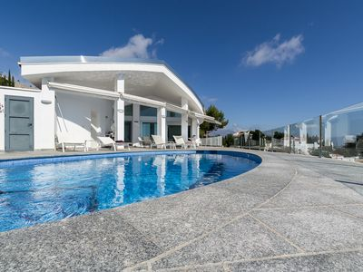 Photo for Brand new spacious designer villa, overwhelming views, heated pool,  wifi