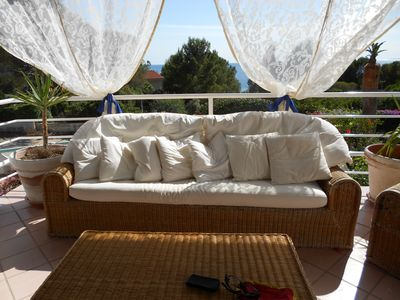 Photo for VILLA RAMONA A 80 METERS FROM THE SEA PORT OF PINETO.