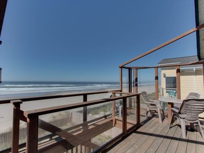 Photo for Waterfront, dog-friendly, home with hot tub - Only 75 feet from beach!