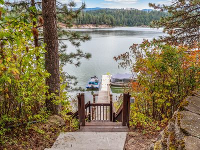 Photo for Secluded lake view home w/ access to a shared dock & beach!