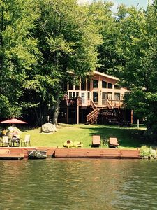 VIEW FROM THE LAKE - WATER RUNS RIGHT TO THE BACKYARD- STEP RIGHT IN FOR A SWIM