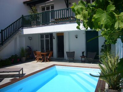 Photo for Very nice Basque house of the 30s with heated pool in the center of Biarritz