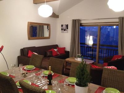 Photo for Superb duplex apartment on the slopes of the ski resort of Valmorel