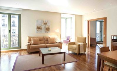 Photo for Direct View Plaza Catalunya  apartment in Eixample Dreta with air conditioning, private parking, ba…