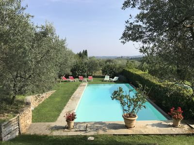 The pool among the olive trees