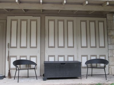 The original sliding barn doors have been preserved on our Carriage House.