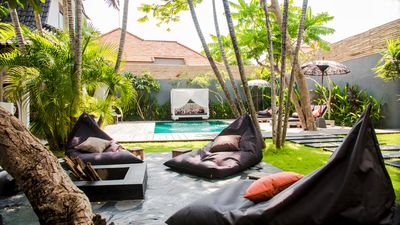 Photo for 3 bedroom villa with private pool, daily continental breakfast in Seminyak