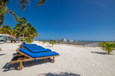 Our private beach is pristine due to the incredible work of Chapin's dream team