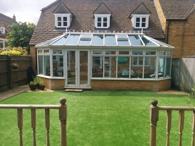 Rear Garden and Conservatory