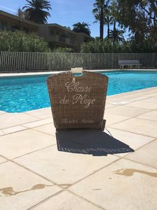 Photo for Beautiful apartment at Juan les Pins in Residence Les Eucalyptus, nearby beach.
