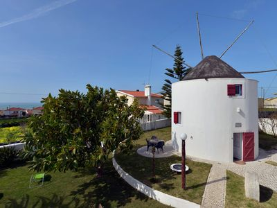 Photo for Moinho do Mar - Windmill apartment in Ericeira with WiFi, shared terrace & shared garden.