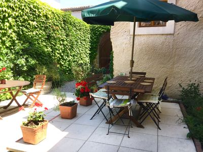 Photo for Charming 3*  village house  in Corbieres  with walled  garden  near Carcassonne