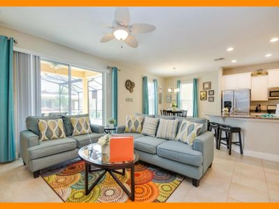 Photo for Solterra Resort 104 - modern villa with game room & private pool near Disney