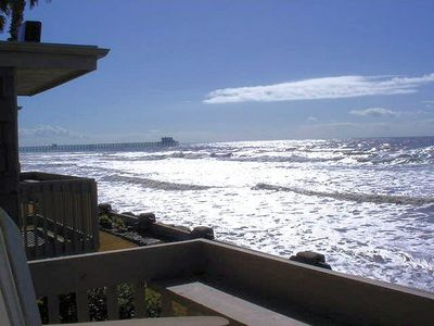 Photo for BEACHFRONT UPPER cottage, Panoramic Ocean & Sand Views. D20 - Beachfront Delight