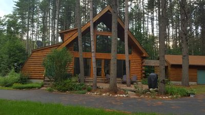 Photo for Gorgeous Log Cabin on Hudson River **Only 15 minutes to Lake George!**