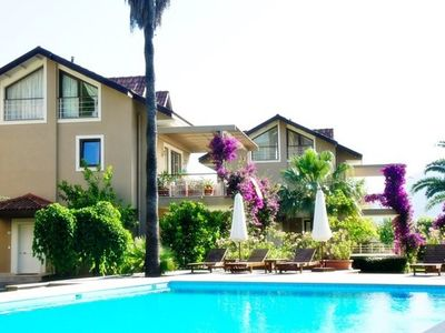 Photo for Gocek 3 Bedroom Apartment Yasmin with Shared Pool . Complex has big size shared swimming pool, nice landscaped garden and security at the gate.