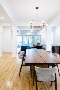 """Open floorplan; dining room opens to living room with 15"""" door with lakeview"""
