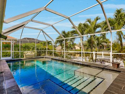 Photo for Stunning Gulf Access, Pool Home On Royal Palm Lined Cul De Sac