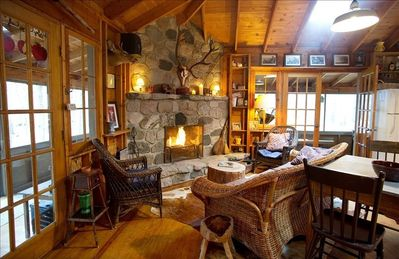 Photo for Charming cabin in the woods within walking distance to Lake Michigan