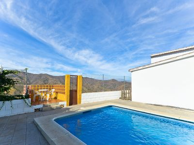 Photo for Rustic Home In Tranquil Mountains with Pool, Terrace, Garden & Wi-Fi; Parking Available, Pets Allowed