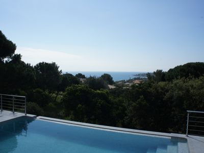 Photo for sea ​​view villa, pool and air conditioning