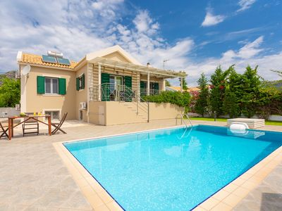 Photo for Villa Alexandra: Large Private Pool, Walk to Beach, Sea Views, A/C, WiFi, Car Not Required, Eco-Frie