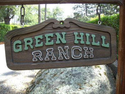 Entrance sign to Green Hill Ranch
