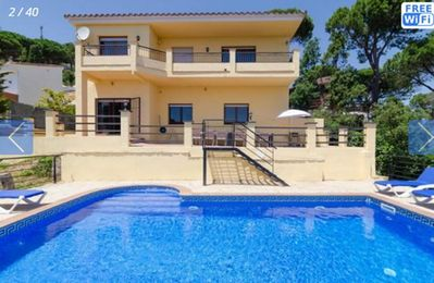Photo for Costa Brava, Lloret de Mar for 12 people villa private pool, sea 4 km