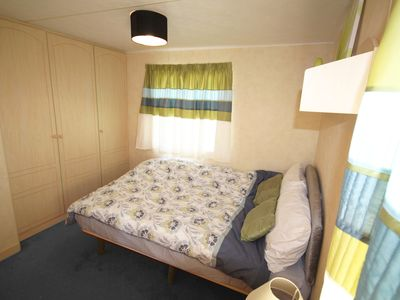 Photo for Lovely light airy static caravan on Winchelsea Sands, Rye East Sussex.