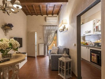 Photo for Mon Amour apartment in Oltrarno with WiFi, integrated air conditioning & private terrace.