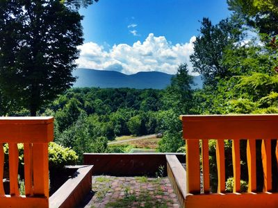 Photo for Chalet with a Pond and Pool with  Spectacular views of the Catskill Mountains