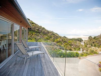 Photo for Sand Dune Lodge - Sunny, modern, spacious home with great estuary views a short stroll to surf beach